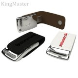 Rey Master Leather Metal USB Flash conduce la fábrica de encargo