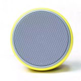 Mini altofalante portátil sem fio redondo amarelo de Bluetooth