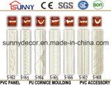 Molduras decorativas y decorativas interiores de la cornisa de la espuma de la PU / moldeos llanos / silla de talla