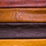 Кожа мебели PVC PU верхнего качества прочная