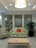 Écran décoratif coupé par laser d'aluminium pour la décoration à la maison d'immeuble de bureau d'hôtel