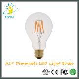 Economia de energia dos bulbos 4With6With8W do diodo emissor de luz de Stoele A19/A60 Edison