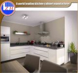 حديثة عال لامعة بيضاء طلاء لّك مسطّحة حزمة لين مطبخ أثاث لازم مع [كونترتوب] حجارة