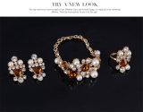 Joyería determinada de los pendientes del collar del PCS de la manera cristalina 4 de la perla