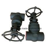 1500lb forjou a válvula de porta de aço do NPT da extremidade de linha do selo de pressão