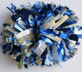 Cheerleading POM Poms: Holo Silber-Mischungs-Purpur