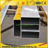 Tube en aluminium rectangulaire en aluminium d'OEM avec le profil en aluminium d'extrusion