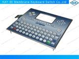 Impressão da reticulação no teclado da membrana da folha de prova com suporte e penas de Alu