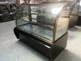 2 слоя изогнули Refrigerated стеклом случай хлебопекарни