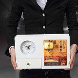 Alta calidad reloj de madera casa de muñecas