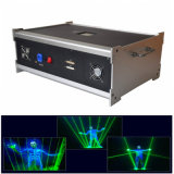 Sola demostración del hombre del laser de la luz laser del suelo de baile de la luz laser del verde
