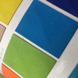 El cuero sintetizado de la PU con el efecto cambiante termo del color para el cuaderno cubre Hx-0711