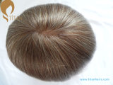 Soft Remy Hair Toupee com o Mono e PU Base