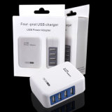 Cargador de pared 5V 4A 4USB puerto para PC Tablet Smartphone
