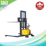 기준은 1.0-1.5 톤 반 전기 쌓아올리는 기계를 가진 다리 & 조정가능한 포크를 걸터앉는다