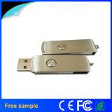 Оптовое флэш-память USB вращения металла серебра прямоугольника