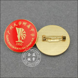 Distintivo quadrato irregolare dell'oro, Pin inciso del risvolto (GZHY-BADGE-004)