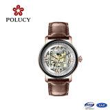 Horloge van de Mensen van China van het Geval van het Roestvrij staal van het Horloge van het Kristal van de saffier het Mechanische Automatische