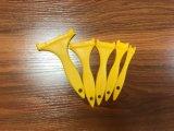 Ручка щетки краски желтого цвета пластичная