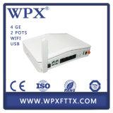 Huawei Zte Ont를 위해 양립한 WiFi Gpon ONU 4ge+2FXS+WiFi