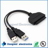 22 cable del USB IDE SATA de la vuelta SATA del USB 3.0 del Pin para el disco duro del ordenador de 2.5 pulgadas