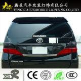 Fibra de carbono para lâmpada principal Acessórios de carro Suporte de luz Proteger