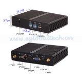 Mini PC Intel Pentium 2117u Computador com frame do linux do LAN WiFi do VGA HDMI do SSD Fanless Windows de 8RAM 128GB