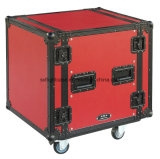 "19 ""Flight Case con color rojo"