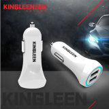 Kingleen C918 Dual USB Chargeur de voiture intelligent Combo pour iPhone / Micro / Type-C 5V-3.1A Charge de voiture de haute qualité