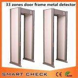 33 зоны проходят через металлоискатель Металлический детектор арки