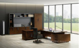 Meuble de bureau rectangulaire en bois en forme de L Bureau exécutif de table moderne (HF-01D28)