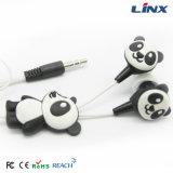 Oortelefoon van het Ontwerp van de Oortelefoon van het Ontwerp van de panda de Leuke met de Doos van de Gift