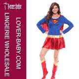 Trajes de Supergirl do super-herói de Halloween (L1325)