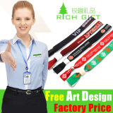 Sind kein Minimum Order Woven Custom Lanyard für Events/Promotion sperrig
