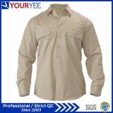 Chemise unisexe de longues de chemise chemises faites sur commande de travail (YWS110)