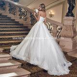 Vestido de casamento feito-à-medida inchado nupcial G1789 de Tulle dos vestidos de esfera do laço do querido