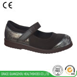 Leather+Stretchable Fabric를 가진 은총 Health Shoes Women Diabetic Shoes