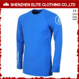2016 Summer Wholesale Surfing Blue Rash Guards for Boys