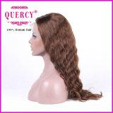 A peruca brasileira da parte dianteira do laço para mulheres com cabelo do bebê, ondulada, pode ser tingida