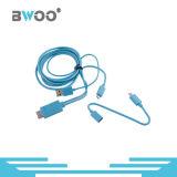 Câble usb multi coloré en gros de fonction de prix usine