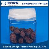 La nourriture en plastique d'animal familier carré peut avec le couvercle en aluminium d'Eoe