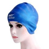 シリコーン材料(CAP-1104)が付いている専門の青い防音保護具の水泳の帽子
