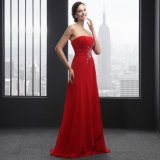 Strapless Beading Sleeveless Lace up Evening Dress (SL2015)