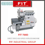 Velocidad Máquina de coser Overlock de alta drect Drive (FIT 700D)