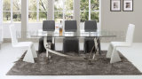 Tabela de jantar filipino de jantar Home nova do projeto de vidro da tabela da mobília ajustada (NK-DTB006)