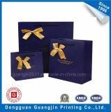 Vente chaude Art papier cadeau Emballage Sac avec Décoration Pink Ribbon