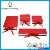 Kundenspezifischer Pappgeschenk-Schmucksache-Kasten mit Schaumgummi-Einlage