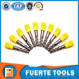 As flautas Polished do carboneto de tungstênio 3 esquadram o moinho de extremidade para o alumínio
