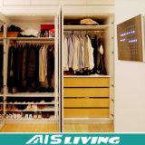 Heißer Verkaufs-Entwurfs-Art-Schlafzimmer-Möbel-festes Holz-Garderoben-Wandschrank (AIS-W64)