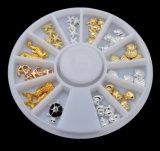 새로운 형식 3D 수정같은 모조 다이아몬드 DIY 못 예술은 훈장 매니큐어를 기울인다